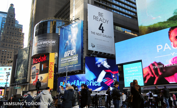 Samsung Galaxy S4 in Time Square