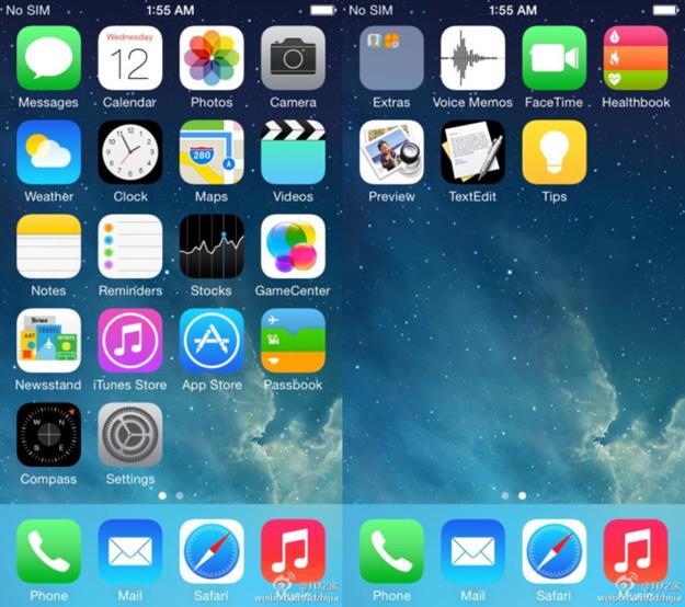 iOS 8 concept (courtesy www.gizmodo.fr)