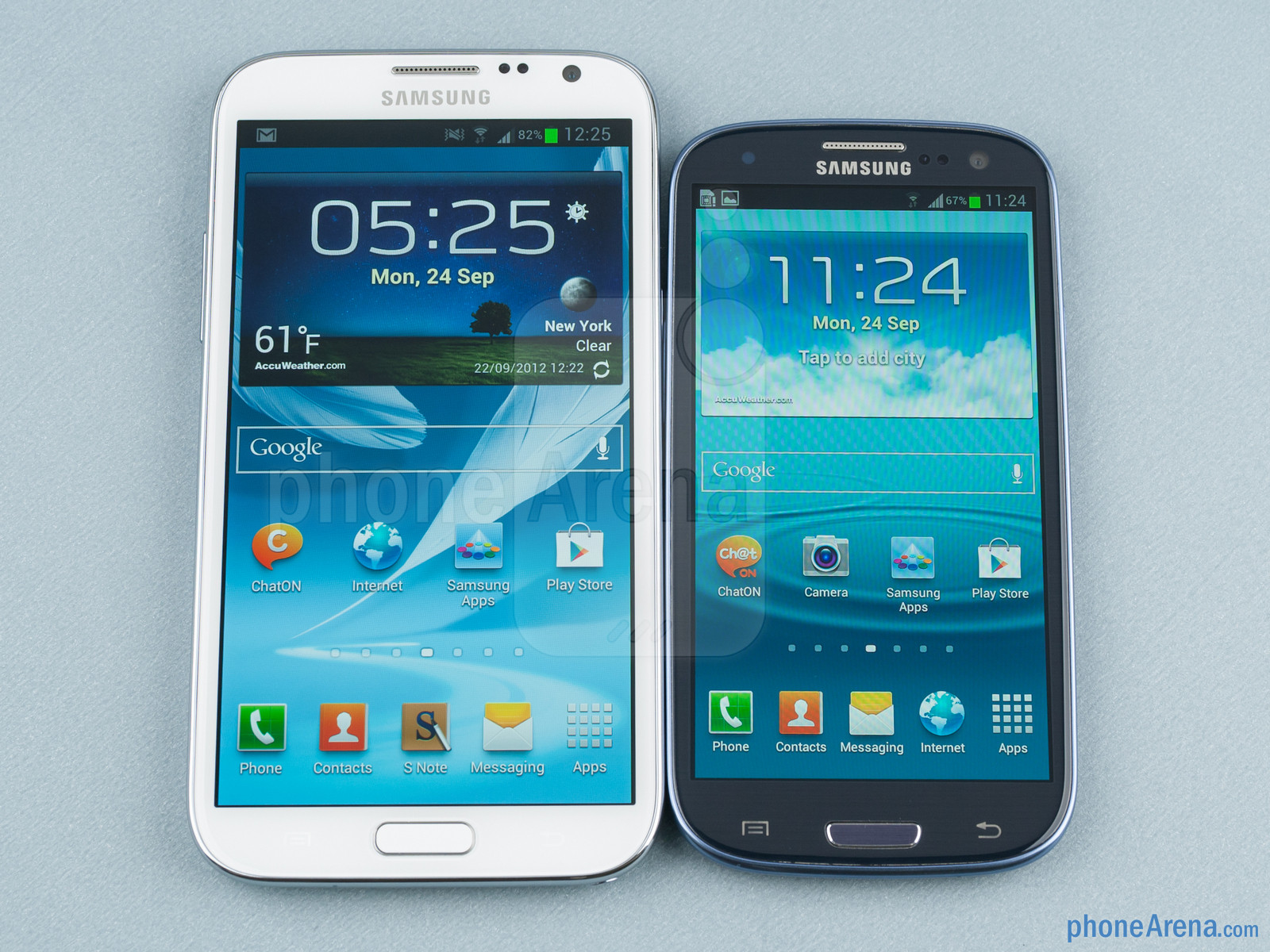 Galaxy Note vs. Galaxy S