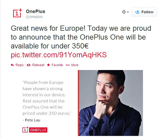Pete Lau, OnePlus One CEO