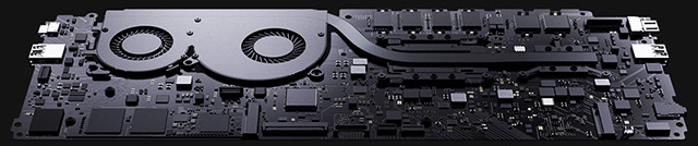 Xiaomi Mi Notebook Air Interior